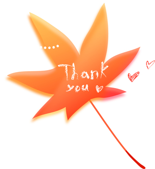 Thank you wrote on a maple