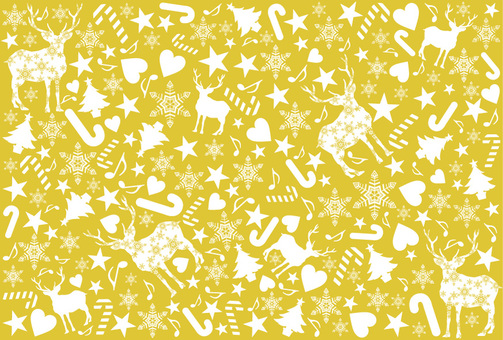 Christmas pattern gold