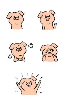 Pig's emotions