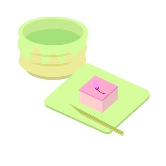 Sakura agar and tea