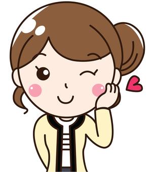 여성 회사원 OL 미소