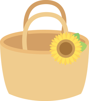 Basket bag <with sunflower>