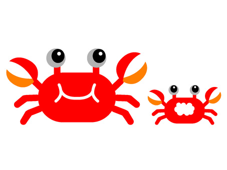 Crab parent and child