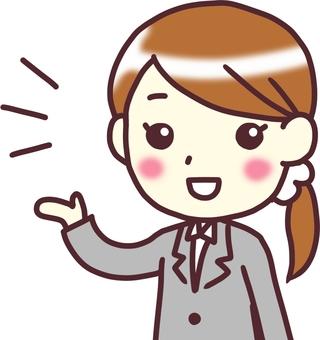 [여성 정장] 대각선 _ 안내 _ 바스트 업