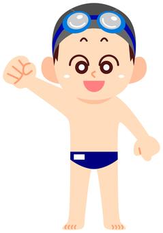 School swimsuit boy