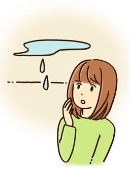 Rain leak