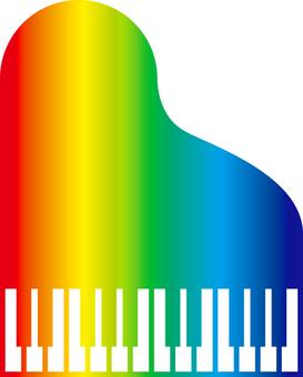 Piano_Simple _ rainbow color