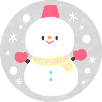 Honorable snowman (gray)