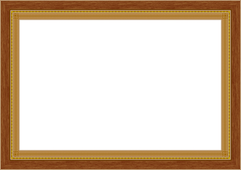 Square frame picture wooden