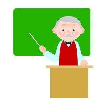 老师指着黑板(MAN)