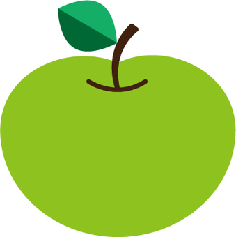 Green apple stand alone