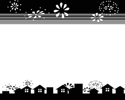 Fireworks B & W frame
