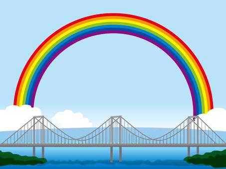 Blue sky and Rainbow Bridge (3) Rainbow