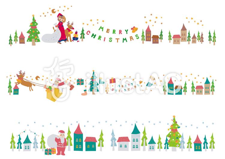 クリスマスの街並みイラスト No 957245無料イラストならイラストac