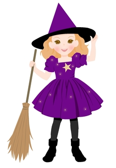 Witch's costume purple