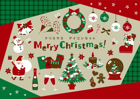 Christmas icon set 02