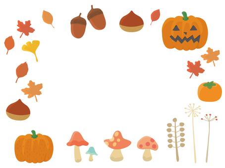 A set of autumn motifs