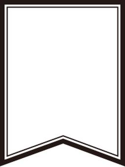 Flag material frame