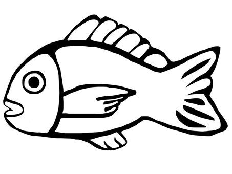 Fish 2 Black and White
