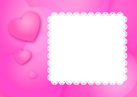 Heart's message card (pink)