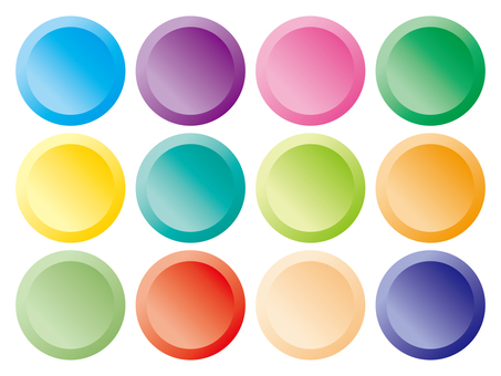 web · material button (colorful circle)