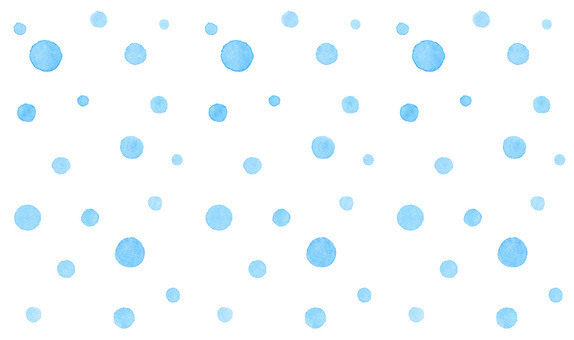 Watercolor hand-drawn random dot * Polka dot pattern * light blue