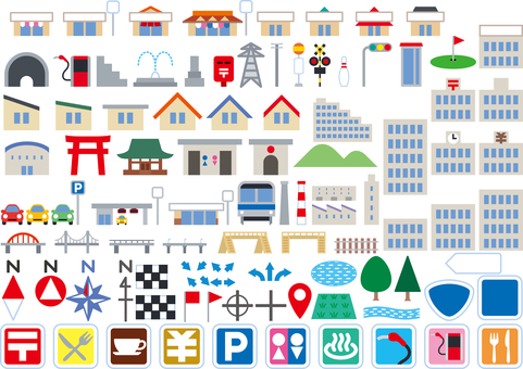 Map Map Icon Mark Color