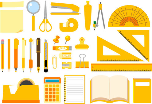 Yellow stationery set