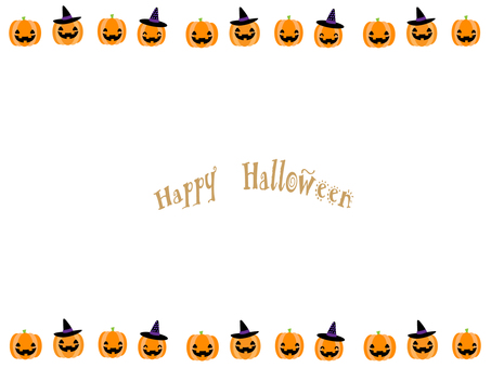 Halloween frame ⑰ (pumpkin)