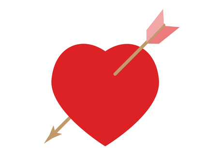 Heart with arrows stuck