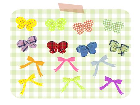 Colorful ribbon assortment