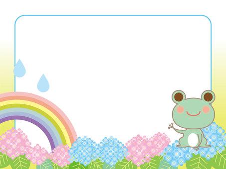Rainy season and frog