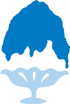 Shaved ice Blue Hawaii