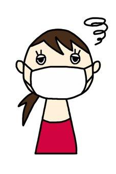 Women masking