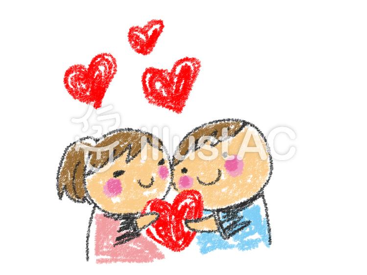 バレンタイン男の子女の子 カップルイラスト No 1023813無料