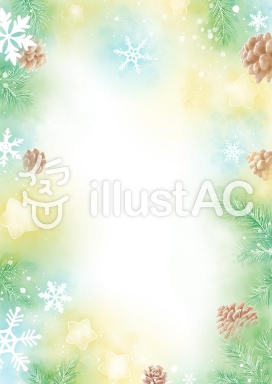 星と雪の結晶のイラスト