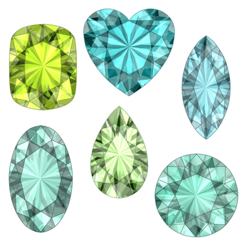 Gem set green