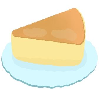 皿に乗ったチーズケーキ