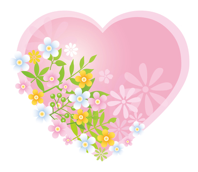 Flower decoration heart