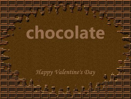 초콜릿 묶 프레임 브라운 발렌타인