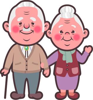 2 등신 노부부 캐릭터 B