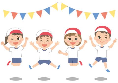 Jump children athletic meet
