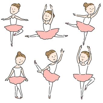 Ballerina Illustration Set