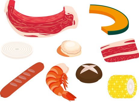 Barbecue ingredients
