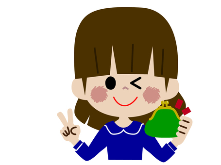 A girl with a wallet