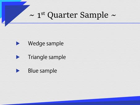 비즈니스 템플릿 파란색 삼각 에지 2