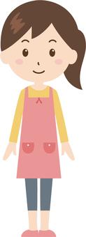 Woman   housewife   apron   standing figure