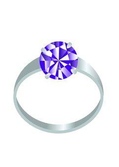 Platinum ring of color stone