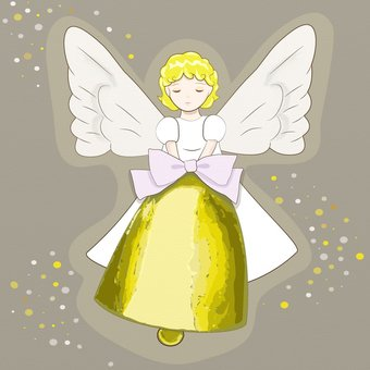 Angel that rings the bell