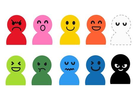 간단한 인물 표정 다채로운